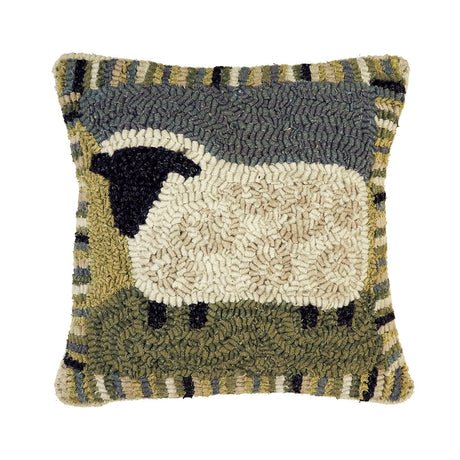 12 X 12'' SHEEP HOOKED PILLOW