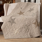 Miller Farm Star Charcoal Quilted Throw 60x50