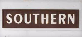 Vintage Metal SOUTHERN Sign by Park Hill Collection