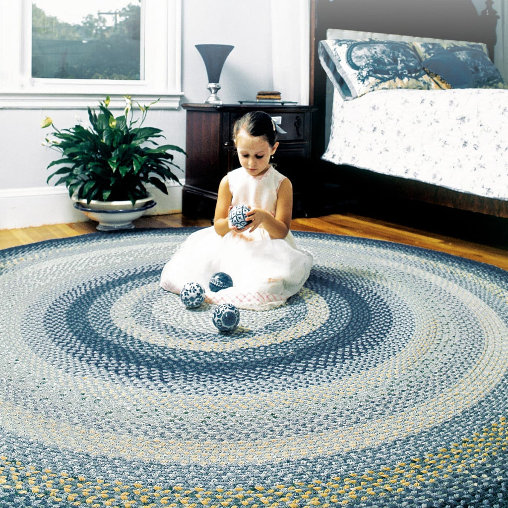 wedgewood blue braided rug