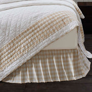 Jenna Buffalo Tan Check King Bed Skirt 78x80x16