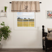 Miller Farm Charcoal Chicken Valance Pleated 20x60