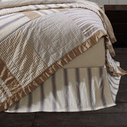 Vintage Stripe King Bed Skirt 78x80x16