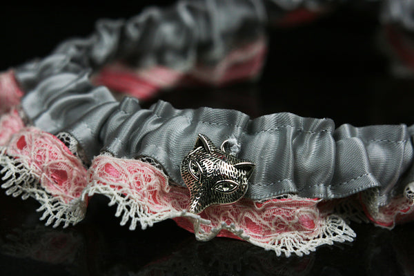 Handmade Leg Garter with Pink Lace