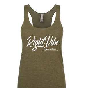 "Ladies ""Right Vibe"" Tri-Blend Racerback Tank"