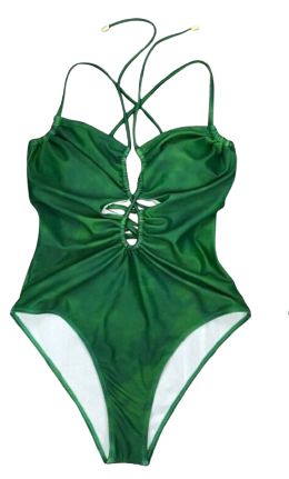 Ladies Halter One-Piece Monokini Swimsuit