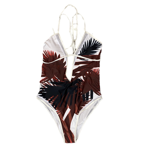 "Ladies ""Palm Print"" One-Piece Monokini"