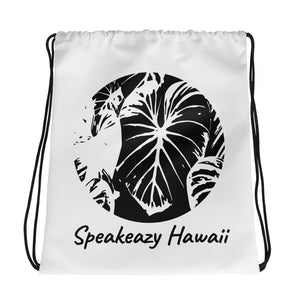 """Luau Leaf"" Small Drawstring Cinch Gym Backpack Bag"