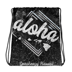 """Aloha Islands"" Drawstring Cinch Bag"