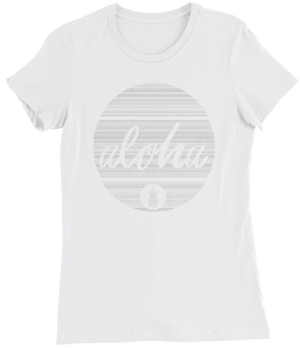 "Ladies ""Aloha Circle"" Form Fitting Tee"