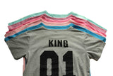 King Queen 01 Hip-hop Casal T-shirt Hot Sale - Lupsona