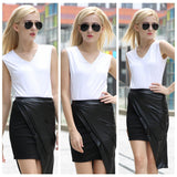 Putea Maehe Asymmetrical Mini Skirt - Lupsona