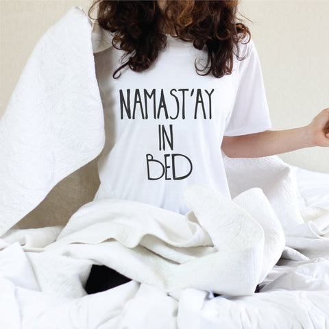 Namastay í Bed European Style Short Sleeved Top - loveofqueen