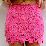 Hip Package Lace Mini Skirt - Lupsona