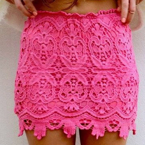 Skirt Mini Lace Hip Lace - Lupsona