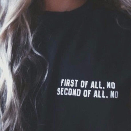 First of All No Cool Hipster Punk T-shirt - Lupsona