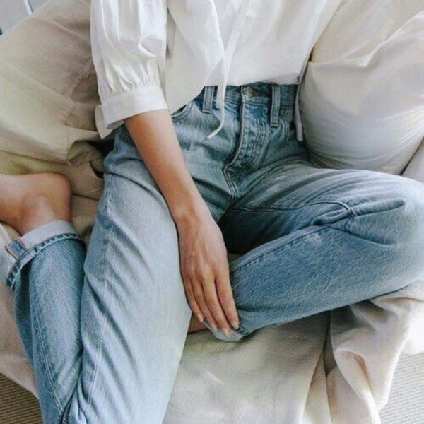 80' Retro Simple Boyfriend Jeans - Lupsona