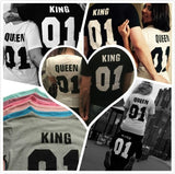 Camiseta de parejas de King and Queen Street Trends - loveofqueen
