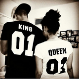 King and Queen Street Trends Couples Футболка - loveofqueen
