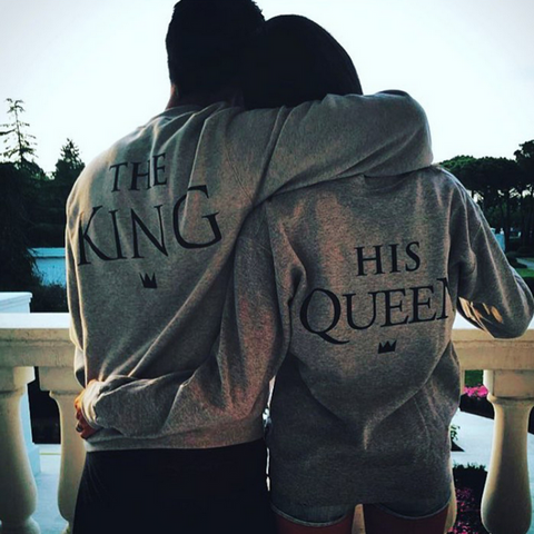 THE KING และ QUEEN คู่ของ Casual Sweatshirt - loveofqueen