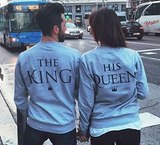 KING AND HIS QUEEN Parit Casual-hupullinen - loveofqueen