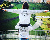 THE KING And HIS QUEEN Couples Casual Sweatshirt - loveofqueen