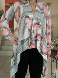 Aztec Print Irrigular Cotton Cardigans Hot Sale - Lupsona