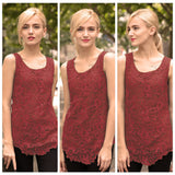 women new fashion lace blouse new design plus size loose tank top 7 colors 7 sizes - loveofqueen