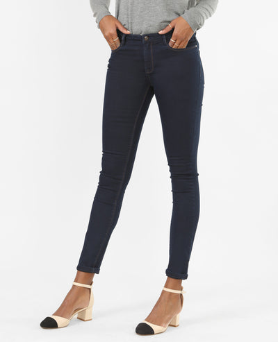 Dark Blue Basic Women's Jegging - Pimkle - mydenimstore
