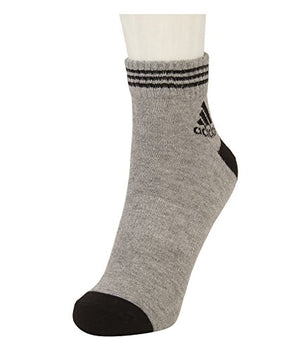 Adidas Rib Stripes Ankle Length Men's Socks - Pack of 3(Black/White/Grey)