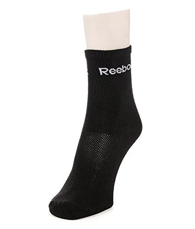 Reebok Flat Knit High Ankle Length Men's Socks - Pack of 3 (White, Black, Grey)