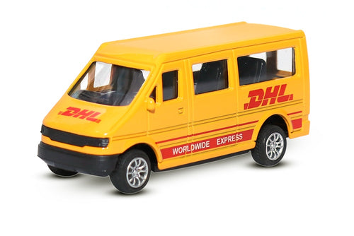 FASTR Die Cast Model DHL COMMERICAL CARGO MINIVAN Pull Back Car Toy Kids Gift-YELLOW