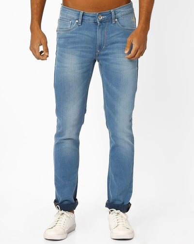 Flying machine Lightly Washed Low-Rise Men's Light blue Jeans