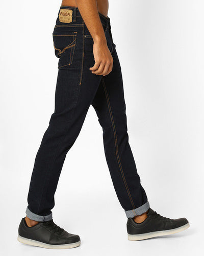 Flying machine Jackson Skinny Fit Men's Navy Blue Jeans