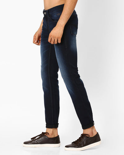 Flying machine Lightly Washed Michael Straight Fit Men's Blue Jeans