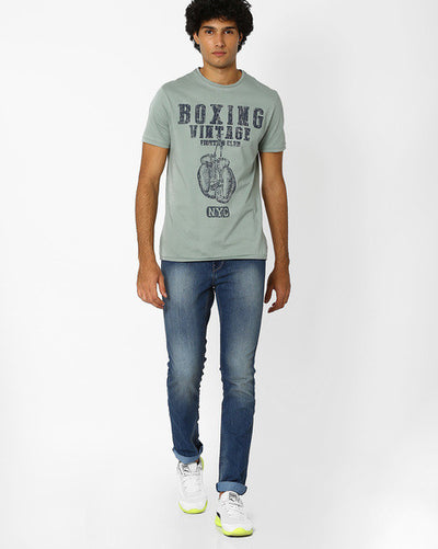 Flying machine Lightly Washed Slim Michael Men's Blue Jeans