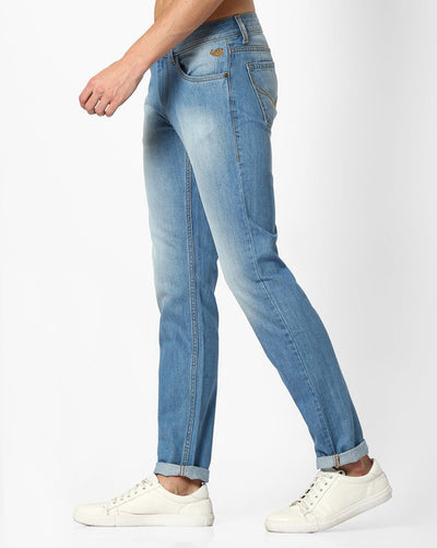 Flying machine Mid-Rise Michael Tapered Men's Light blue Jeans