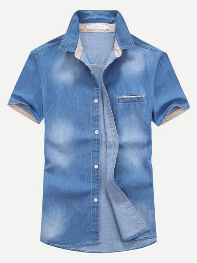 Men Wash Denim Blouse