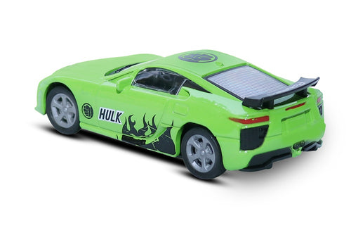 FASTR Die Cast Model 1:43 Scale Avengers Heroes Metal body Car for Age 3+ (HULK GREEN)