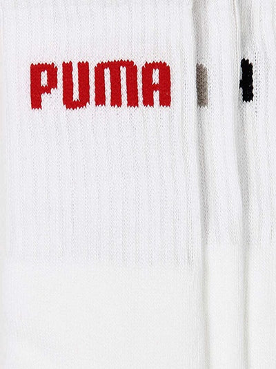 Puma Crew-Length Men's Socks (White Color - Pack of 3)
