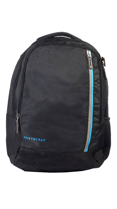 Aristocrat Polyester Black Laptop Backpack
