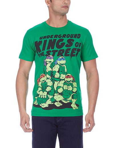 Teenage Mutant Ninja Turtles Men's Round Neck Green T-Shirt  - mydenimstore