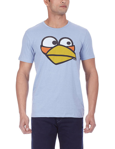 Angry Bird Men's Round Neck Blue T-Shirt - mydenimstore