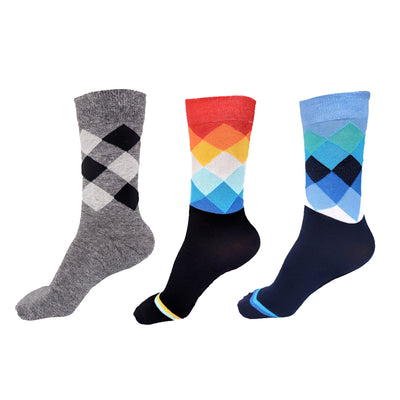 ROXSOX Cotton Men's Socks - Pack of 3(Multi-coloured)