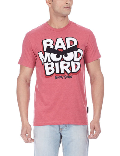 Angry Bird Men's Round Neck Red T-Shirt - mydenimstore