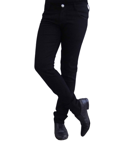 Club Vintage Cotton Slim Fit Men's Black Jeans - mydenimstore