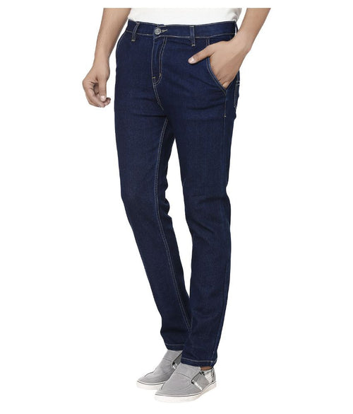Club Vintage Slim Fit Solid Men's Dark Blue Jeans - mydenimstore