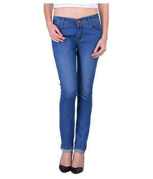 Blue Denim Lycra Women's Jeans - mydenimstore