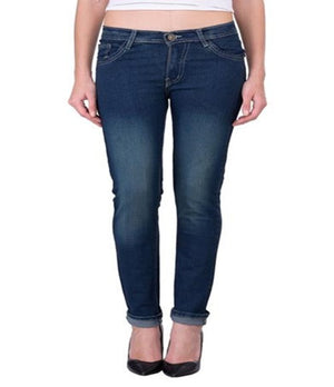 Dark Blue Denim Lycra Women's Jeans - mydenimstore