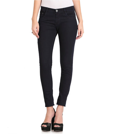 FlyJohn Black Cotton Lycra Women's Jeans - mydenimstore